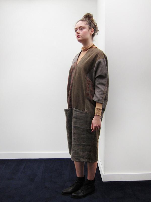 Kapital Tweed Patchwork Art Dress