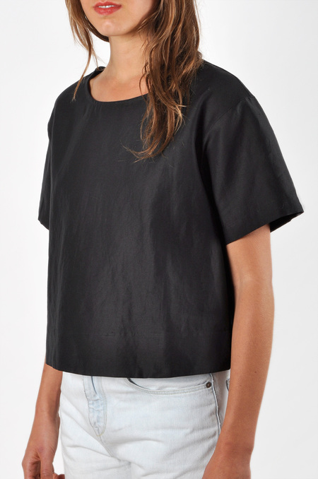 Waltz Drop Shoulder T-shirt | Cotton/Linen Twill