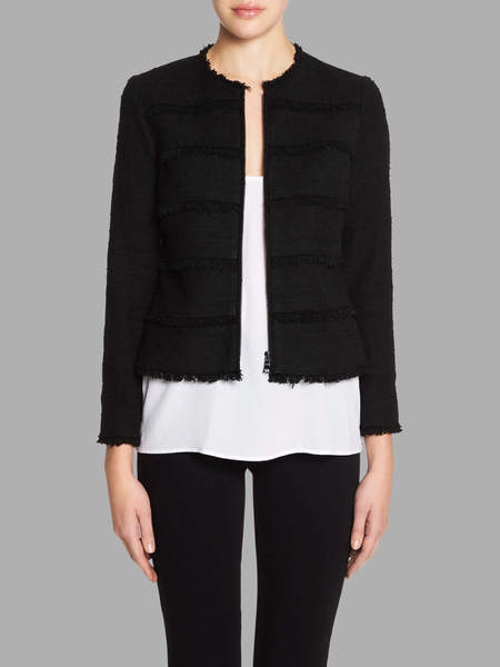 Rebecca Taylor Textured Tweed Jacket - Black