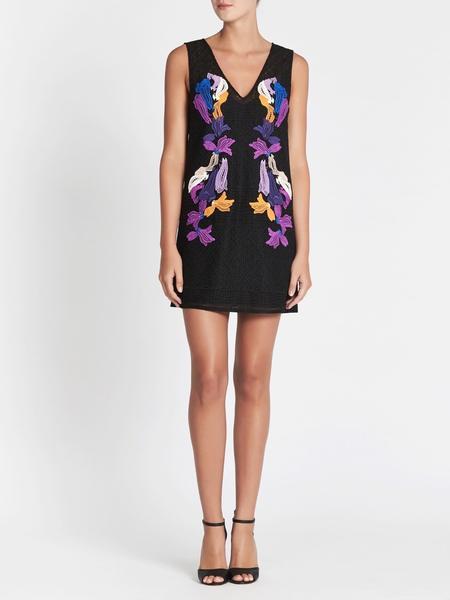 Camilla and Marc Genji Mini Dress - Black/Floral