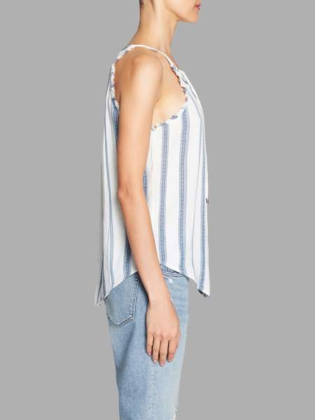 Paige Bria Tank - Blue Tonal Striped