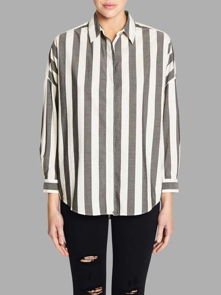 MiH Jeans Carter Shirt - White/Grey