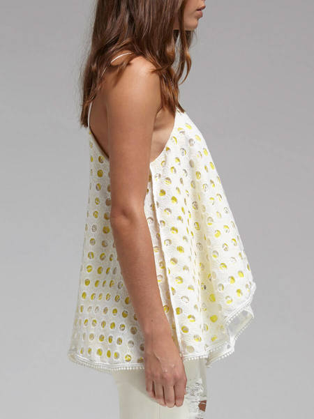 C & M Camilla And Marc Heatwave Top - WHITE/YELLOW
