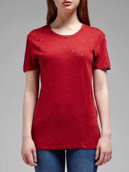 IRO Clay Tee - Cherry Red