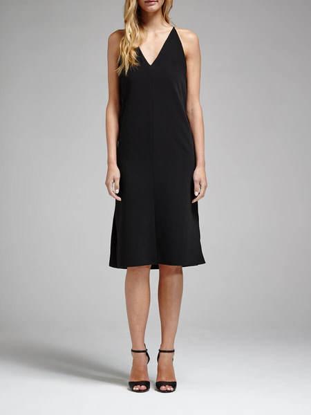 N / Nicholas Crepe Split Dress