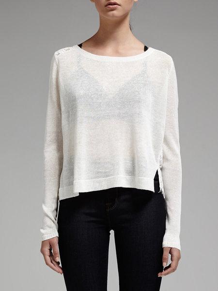 Joie Matrika Lace Back Knit - White
