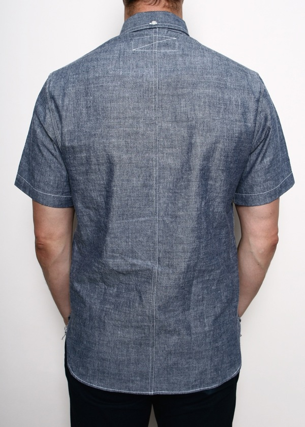 Men's Rogue Territory Popover Japanese Blue Chambray SS Shirt