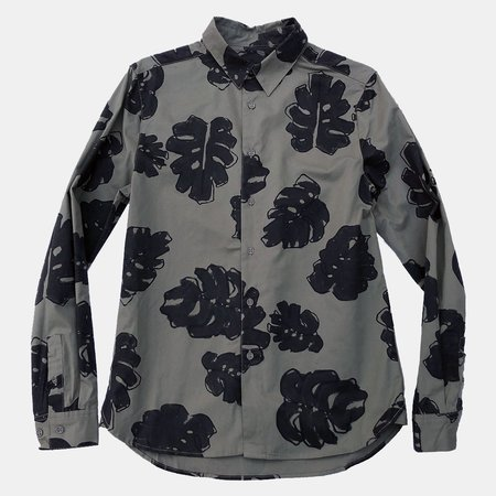Native Youth Floral Forest Shirt - frond leaf