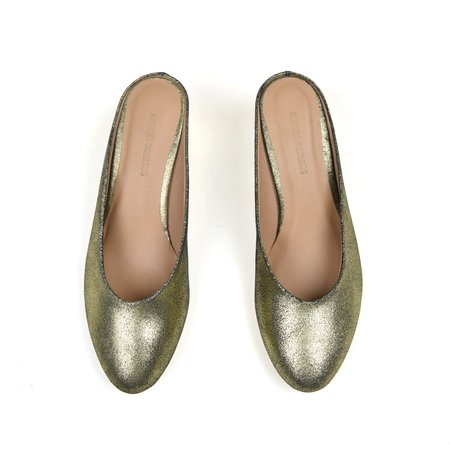 Ariana Bohling Coco Slip on Mule - Gold