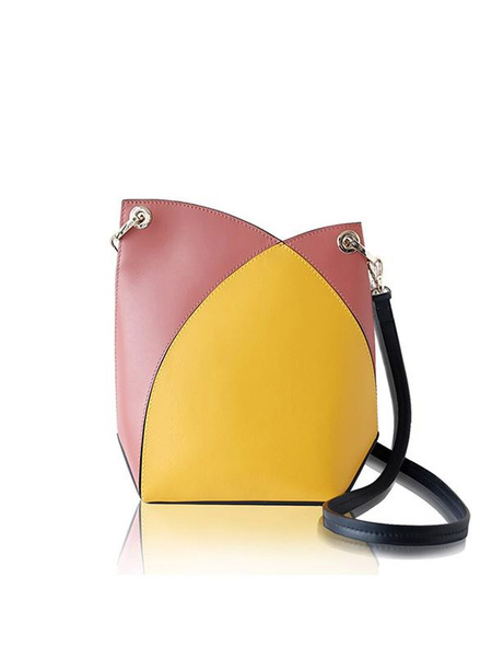 INCOMPLETE Intersection Series Cross Body Bag - Bright Yellow/Brick Red