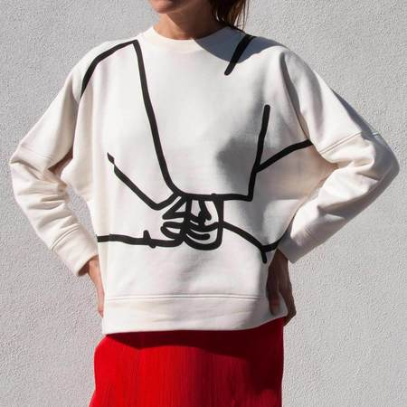 Colovos Holding Hands Sweatshirt - Off White