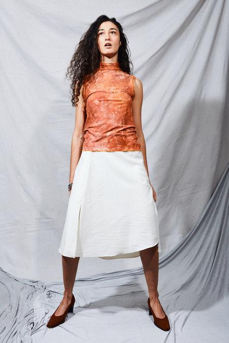 Kahle Bias Slit Skirt - Ivory
