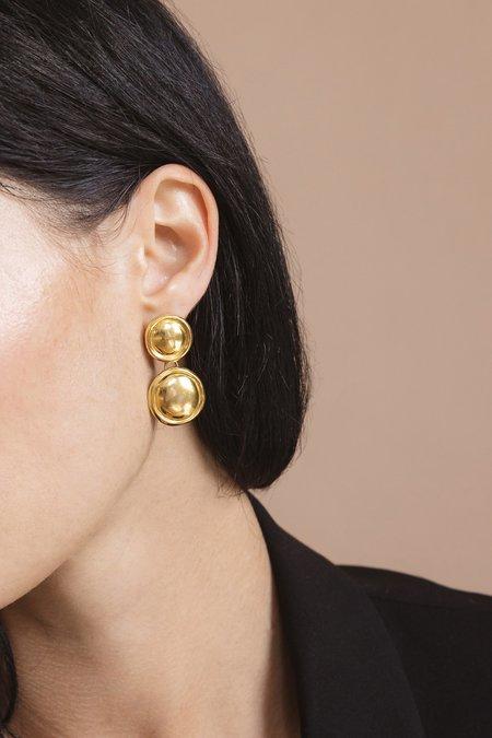 Flash Jewellery Double Dome Earrings - 18k Gold