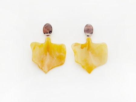 Valet Flower Bud Earrings - Mustard