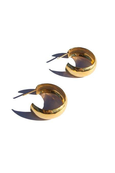 Flash Jewellery Hollow Hoops - 18k Gold