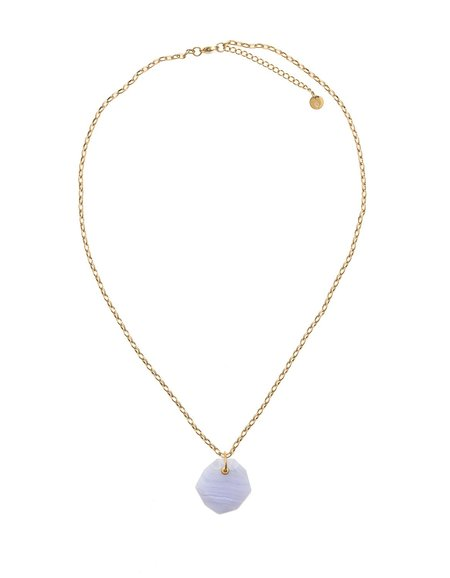 Cathy Pope Lace Agate Pendant Necklace