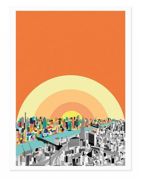 Rude London Sunrise Art Print