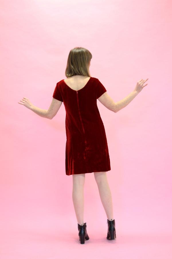 Stell Magnolias Vintage Red Velvet Dress