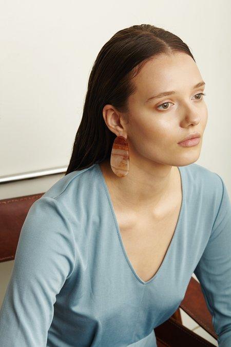 Valet Maple Earrings - Marble