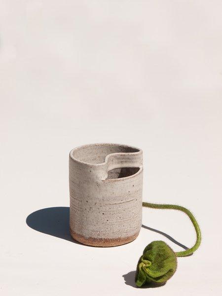 Asobimasu Clay Small Nami Vase - Chalk White