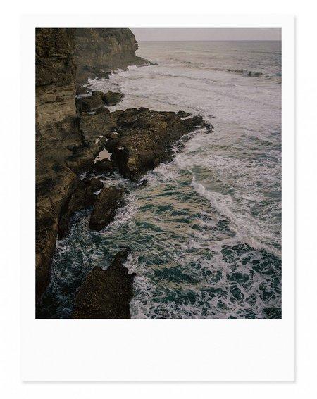 Adam Custins Piha Cliffs Art Print