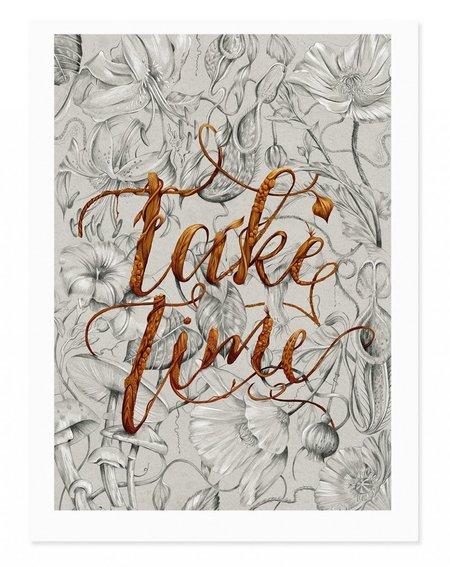 Kelly Thompson Take Time Art Print