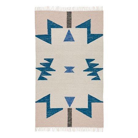 Ferm Living Kelim Blue Triangles Rug