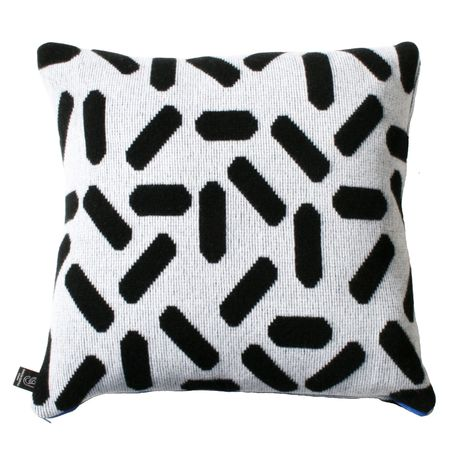 Giannina Capitani Large Tic tac cushion - white/black
