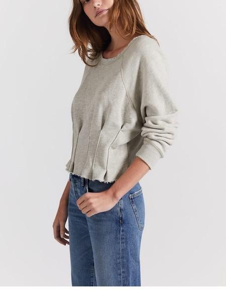 Current/ Elliott Pintucked Sweatshirt - Heather Grey