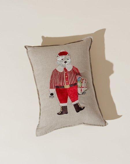 Coral & Tusk Polar Bear Santa Pocket Pillow