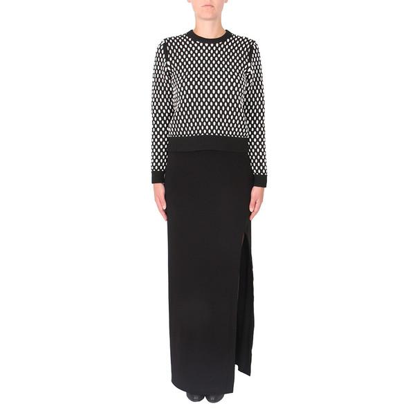 T By Alexander Wang Black Matte Jersey Column Skirt