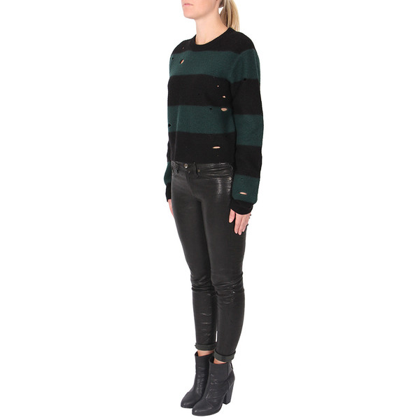 T By Alexander Wang Boiled Wool Crop Pullover