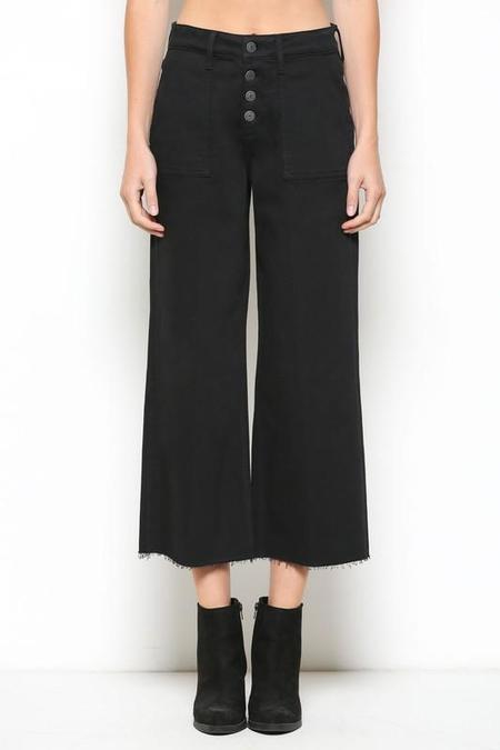 Hidden Denim Utility Cropped Wide Leg Jean - Black