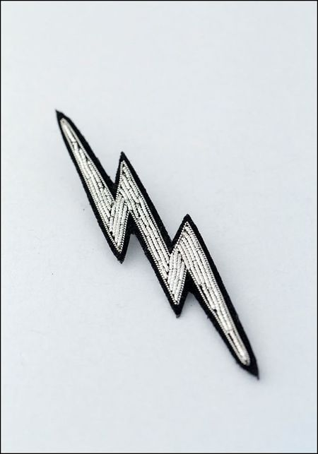 Macon & Lesquoy Lightning Embroidered Pin
