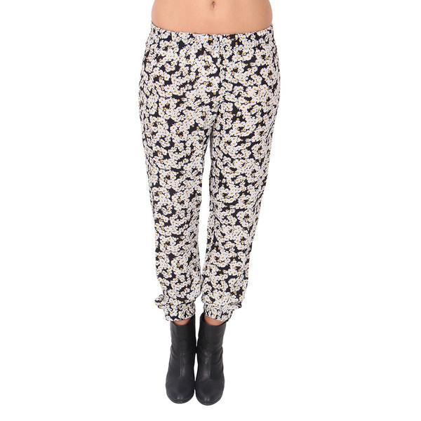 Sea Daisy Print Silk Track Pants