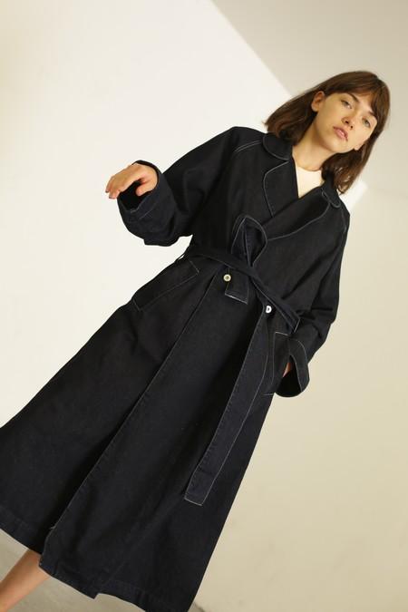 Kowtow Heritage Trench Coat - Dark Denim