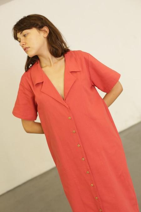 Ilana Kohn Teddy Dress - Cherry Twill