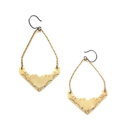 Luna Sol Sonora Earrings - BRASS