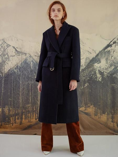 DYS Nocturne Tailored Wool Coat - Blue