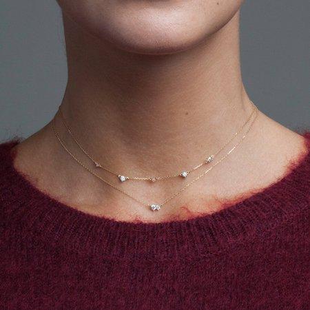 Adina Reyter 5-diamond Amigos Necklace - Gold