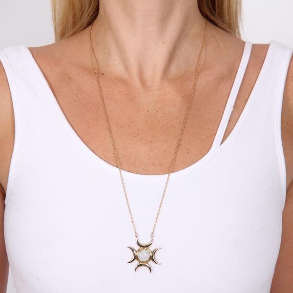 Pamela Love Lunar Cross Pendant