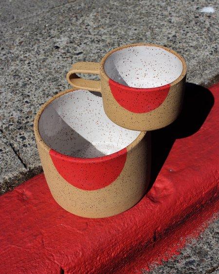 "Mimi Ceramics 6"" Colored Dot Pot - RED DOT"
