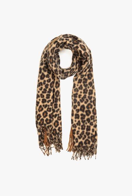 Azalea Dark Leopard Blanket Scarf