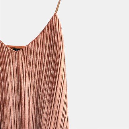 ALTER Crinkle Velvet Dress - Red