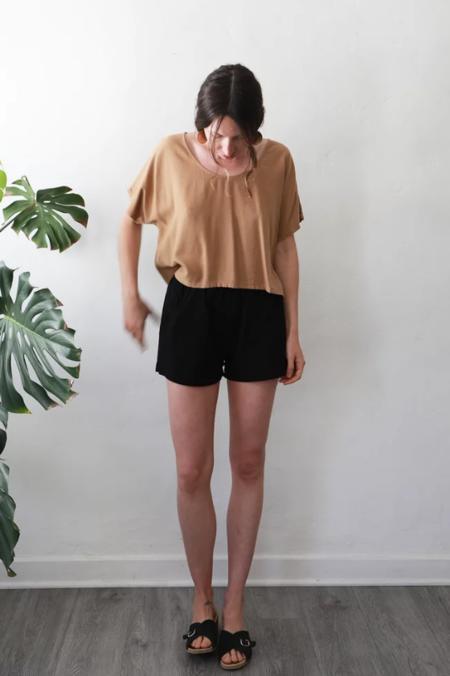 Me & Arrow Cotton Shorts - BLACK