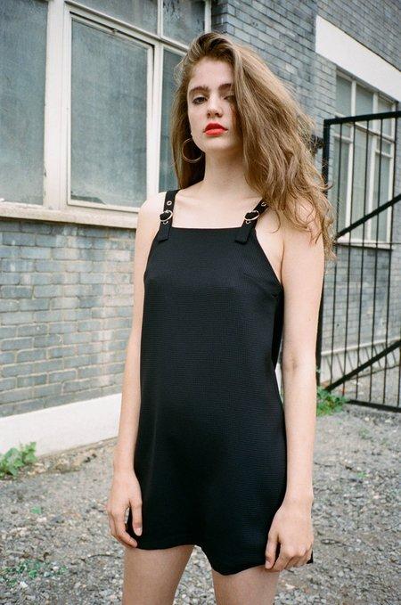 Side Party Bruna Mini Buckled Dress - BLACK