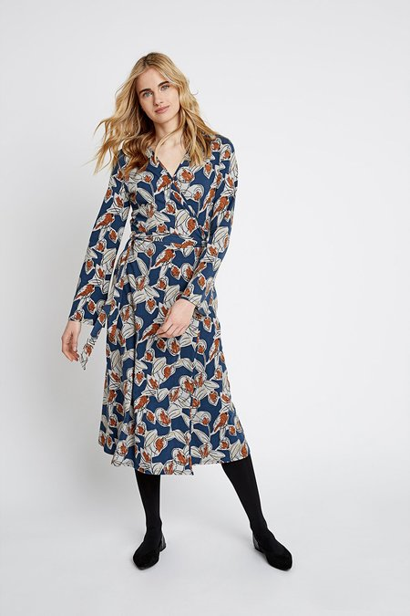 People Tree Sorrel Wrap Dress - abstract floral