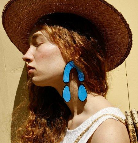 Molly VA Made Big Blue Drop Earrings