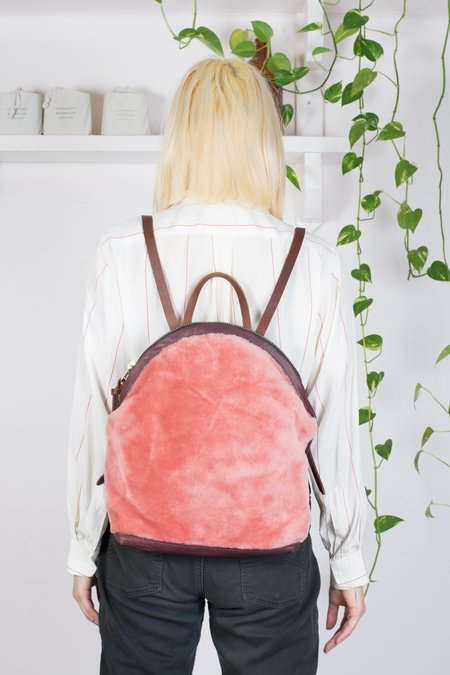 Eleven Thirty Shop Anni Large Backpack - Pink Shearling