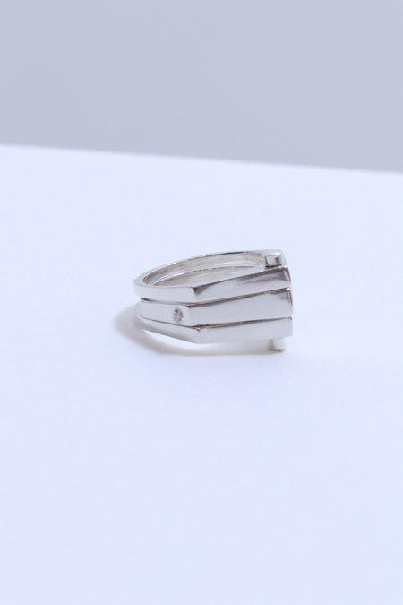 M33Ms Triple Rivet Ring - Silver